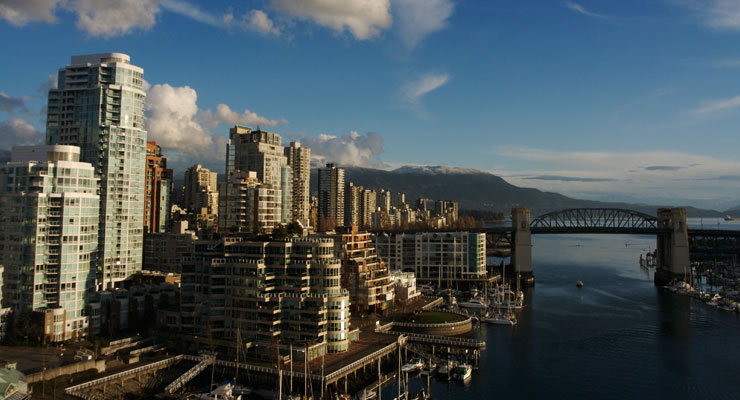 The Burrard Bridge in Vancouver Canada